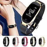 TRDCZ Bluetooth Smart Watch Sport Armband Frauen Armband Mit Pulsmesser Fitness Tracker Schrittzähler, Rosegold