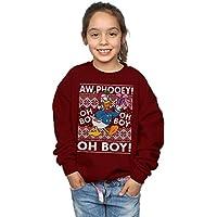 Disney Girls Donald Duck Christmas Fair Isle Sweatshirt