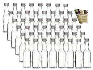 60er set leere mini glasflaschen lang 20 ml glasfl schchen kleine flaschen incl. Black Bedroom Furniture Sets. Home Design Ideas