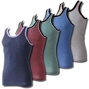 Lavazio® 6er Pack Herren Unterhemden Achselhemden Sporthemden, Farbe:mehrfarbig;Größe:5 / M