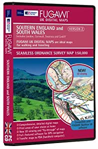 UK Digital Maps version 2 Southern England and South Wales