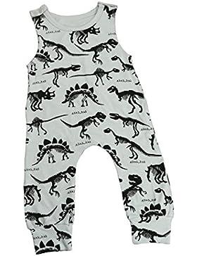 Omiky® Neugeborenen Kinder Jungen Mädchen Print Jumpsuit Outfits Kleidung