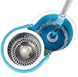 #3: RUBS Magic Spin Mop With Steel Spinner And Bucket For Magic 360 Degree Cleaning (With 2 Refills)