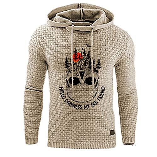 Herren Pullover Kapuzenpullover Einfarbig Tasche Hoodie Sweatjacke Sweatshirt Langarmshirt Sweater Männer Kapuzenjacke Kapuzenshirt Kapuzen-Sweatshirt mit Kapuze Mantel Outwear