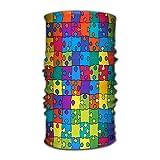 hdyefe Sciarpa Magica Multifunzione costruita con Tubo Illusione Rotante ad Alte Prestazioni Maschera Contorno Colore Puzzle Banner backg Multicolore