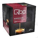 Qbo Kapseln - Espresso Cafezinho Ipanema (Kaffee, mild, malzig-süß) (27x8 Stück)