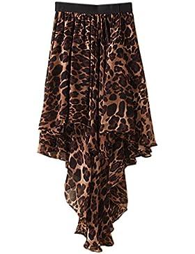 JOLIME Faldas Elegante Plisada Asimétrico Cóctel Fiesta Boho Casual Playa Vestido para Mujer