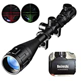 Best Rifle Scopes - Beileshi 6-24X50mm AOEG Optics Hunting Rifle Scope Red/Green Review