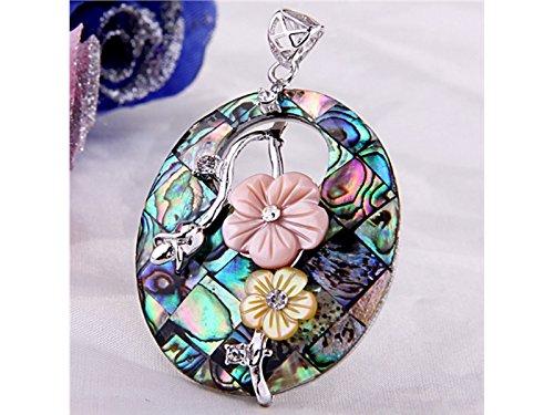 Blume Paua Abalone Shell Anhänger Perlen ()