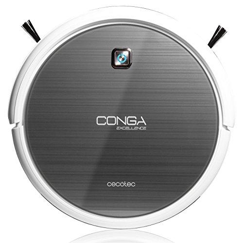 Robot aspirador Conga Excellence de Cecotec. Friega el suelo, Barre, aspira y...