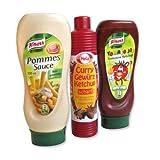 Unbekannt Ketchup und Mayonnaise Flaschen