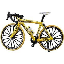 GCDN Doigt Motos Jouets, Doigt VTT, Mini Modèle Ornements - 1 Pack, Table Bureau Maison Décors Miniature Jouets Racing Cycle Modèle pour Enfants Garçons Bureau Racing Club (17.5 * 12.5cm)