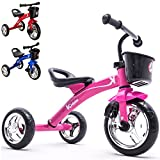 Kiddo Pink 3 Wheeler Smart Design Kids Child Children Trike Tricycle Ride-On Bike 2-5 Years New (Pink)