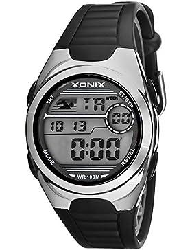 Digitale unisex Xonix Armbanduhr WR100m, MH/5