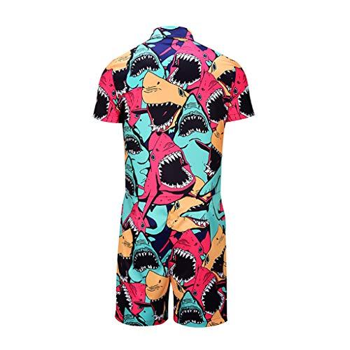 e Sets Anzug Julywe Pyjama Anzug Sommer Modenschau Party Kleid Fashion Show Jumpsuit Schicker Overall Herren Kleidung ()