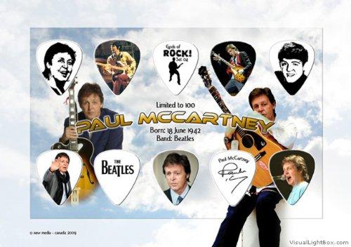 Paul Mccartney Heroes Of Rock Gitarre Pick Plektron Display