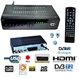 DECODER RICEVITORE DIGITALE TERRESTRE HD-999 DVB-T2 TV SCART HDMI...