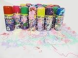 Markenlos 24 Stück Party Luftschlangen Spray Karneval Geburtstag Hochzeit feiern Dekorieren versch. Farbe Schlangenspra