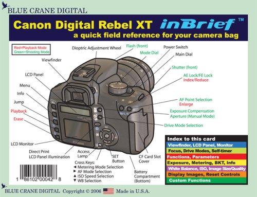 Canon Digital Rebel XT / 350D inBrief Laminated Reference Card by Blue Crane Digital (2006-01-31)