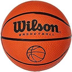 Wilson, Ballon de Basketball, Micro, Pour enfants et adolescents, Pour usage intérieur et extérieur, Orange, B1717
