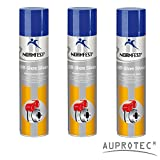 Auprotec® Normfest Bremsenschutz Spray Keramik Spray Off Shore Silver Bremsen Service Spray 400ml (3 Dosen)