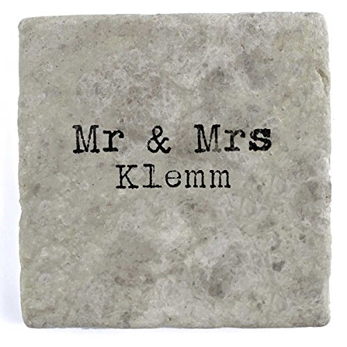 Mr U0026 Mrs Klemm   Set Of Four Marble Tile Drink Coasters
