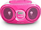 Philips AZ215C CD-Soundmachine (Digital UKW, Audioeingang, 3 Watt, leicht bedienbar) pink