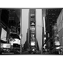 3piezas lienzo Imágenes Reloj de pared New York Metropole Aussicht Panorama–cuadro de lienzo restaurante Oficina Hotel Salón de Universidad doméstica Reloj 111x 80lwb841