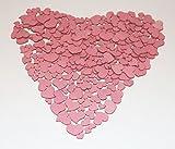 280 Stk Holz Herzen altrosa MIX Hochzeit Tischschmuck Streuteile Holzherzen rosa rose Holz Herz Dekoherzen Streuherzen Tischdekoration Streudeko Basteln Liebe Valentinstag Muttertag Tischdeko Holzherz - 3