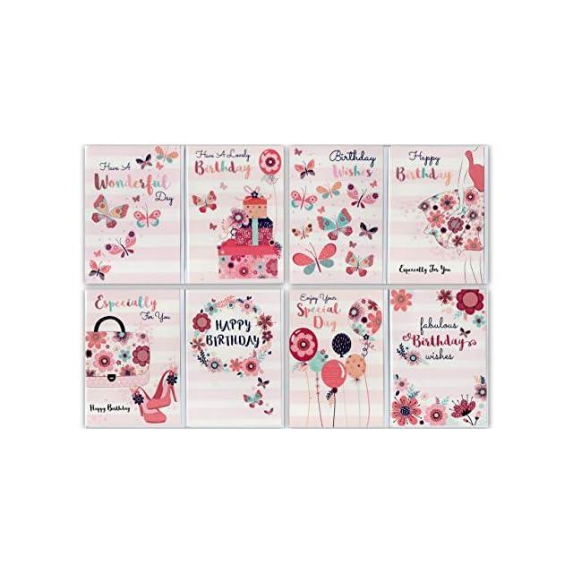 Lot mixte Greetingles 8/enveloppes et cartes danniversaire de mariage contemporaines assorties