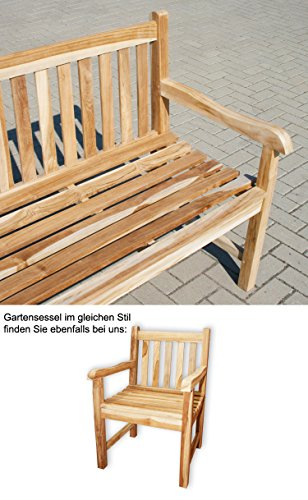 "KMH®, Teak 4-sitzer Gartenbank ""Classic"" 180 cm (#102088) - 3"