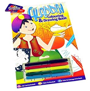Grafix Aladdin Colouring & Drawing Book Toys & Games Activity Sets 5015934291689