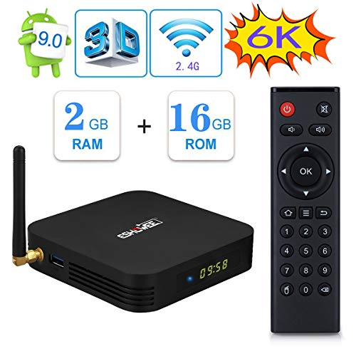 Android 9.0 TV BOX 【2GB DDR3 16GB ROM】ESHOWEE TX6 tv box Allwinner H6 Quad Core 4K/6K Ausgang 2.4G WiFi USB 3.0 Smart Tv Box