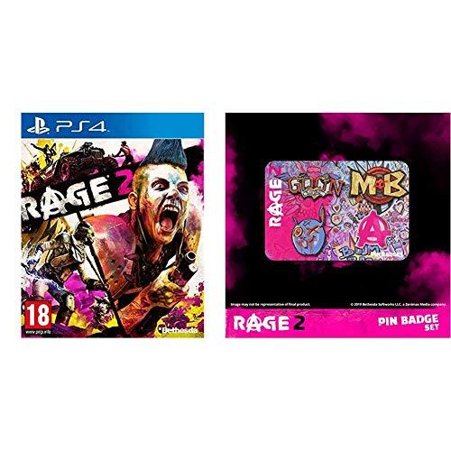 Rage 2 + Login pin badges for PlayStation 4