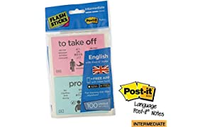 flashsticks Anglais Post-it Niveau 2 intermédiaire Imprimé Sticky Notes