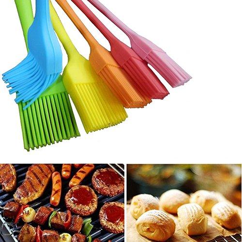 Makwes Silikon Pinsel Bratenpinsel Backpinsel Grillpinsel/Weich und Langlebiges BBQ Pinsel Küchenpinsel/hitzebeständig Essential spülmaschinenfest küchenzubehör Küchenutensilien,Küchen-Backen