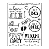 Clear Stamps 14 x 18 cm -Hello Baby-