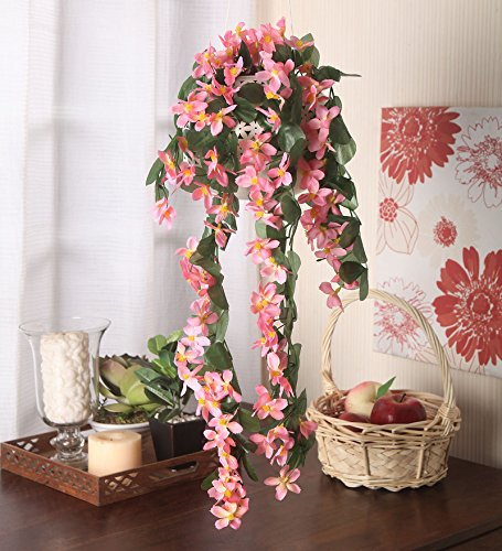 Fourwalls Plastic Ac Narcissus Artificial Flower (Pink)
