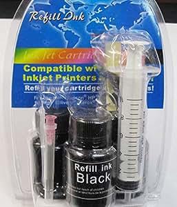 Compatible pour imprimante Canon Pixma MP250 Noir Kit de recharge pour cartouches d'encre Noir PG - 512 MP 250 PG - 510