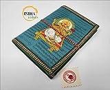 India Colors Gift Agenda Album Foto Diario Bloc Notebook Travel Book Visite. Fatto a Mano in India. Cotone di Carta Artigianale. Modello: Medio (Verde)