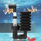 XINGRUI Filtro 2 PCS Mini Filtro Acquario biochimico Muto Pneumatico a Doppia Parete dell'acquario (Colore : Color1)