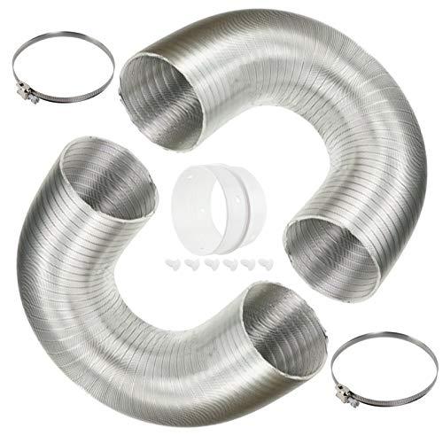 Spares2go - 2 mangueras ventilación aluminio + clips