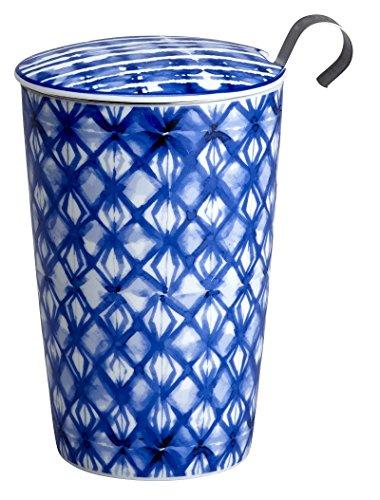 Eigenart TEAEVE® Teetasse, Becher mit Sieb + Deckel, INDIGO Diamonds im Geschenkkarton Diamond Becher