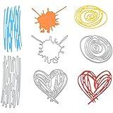 YNuth Juego de 4 Plantillas para Estarcir Troqueles de Corte de Acero al Carbono para DIY Scrapbooking del Diseño de Grafiti