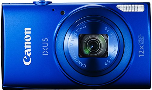 Canon IXUS 170 Digitalkamera (20 MP, 12-fach optisch, Zoom, 24-fach ZoomPlus, opt. Bildstabilisator, 6,8cm (2,7 Zoll) LCD-Display, HD-Movie 720p) blau