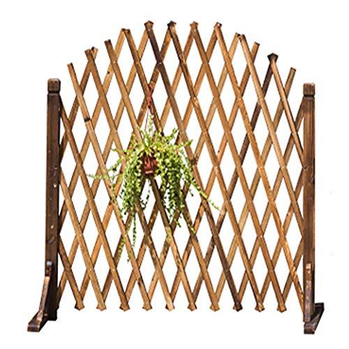 WXQ Gartenzaun Schirm Kind Schutzzaun freies Dehnen Pflanze Regal antiseptische Behandlung Dekoration Klettern, 2 Größen, 2 Farben (Color : Brown, Size : Brown)