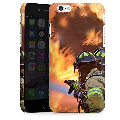 Apple iPhone X Silikon Hülle Case Schutzhülle Feuerwehrmann Einsatz Firefighter Premium Case matt