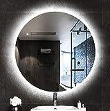 Bathroom mirror Miroir, Miroirs de Salle de Bains à LED, Grand Miroir Mural Rond...