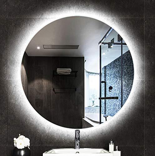 Bathroom mirror Specchio, Specchi per Luce LED da Bagno, Specchio da Parete Tondo Retroilluminato Impermeabile e Antideflagrante