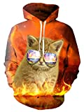 NEWISTAR Unisex 3D Print Lightweight Sportswear Long Sleeve Hoodies Sweatshirts With Pockets